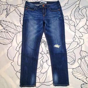 EXPRESS Modern Boyfriend Low Rise Jeans Distressed